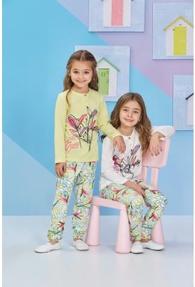 RolyPoly Uzun Kollu Kız Çocuk Pijama Takımı Krem