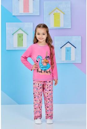 RolyPoly Uzun Kollu Kız Çocuk Pijama Takımı Pembe