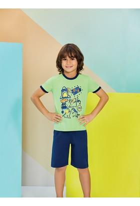 RolyPoly Erkek Çocuk Bermuda Takımı Yeşil