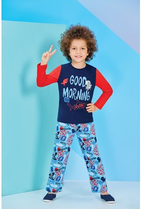 Rolypoly Uzun Kollu Erkek Çocuk Pijama Takımı