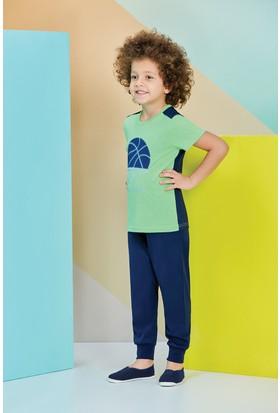 RolyPoly Kısa Kollu Erkek Çocuk Pijama Takımı Yeşil