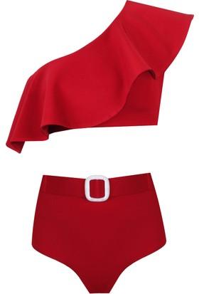 Nur Karaata St.Barth'S Kırmızı Kadın Bikini