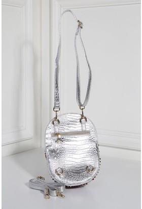 İlvi Bomm B29396 Sırt Çanta Gümüş