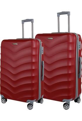 Liveup Bordo Küçük & Orta Boy Bavul Valiz Seti VZ314-651-Sm