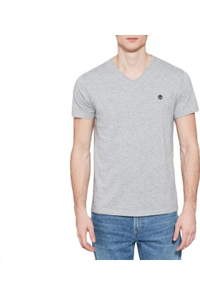 Timberland Gri Erkek T-Shirt A1LP5052