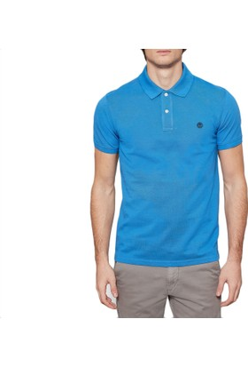 Timberland Mavi Erkek T-Shirt Ss Millers Pique Slim Polo A1LILJ45