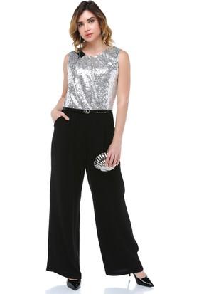 B&S Line Gri Payetli Tulum Elbise