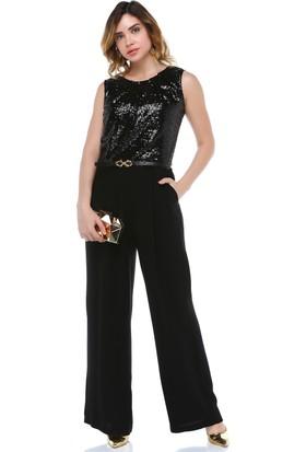 B&S Line Siyah Payetli Tulum Elbise