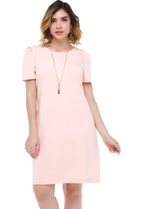 B&S Line Pudra Önü Fermuarlı Omuz Detaylı Elbise