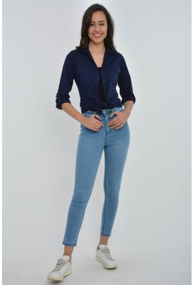 Rodin Hills Buz Mavi Yüksek Bel Kot Pantolon 22500