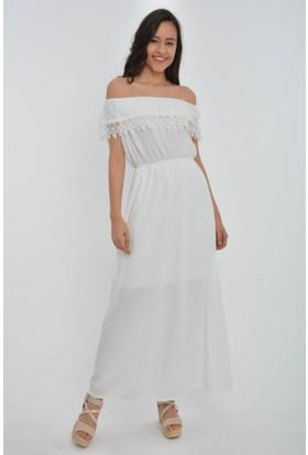Rodin Hills Madonna Yaka Uzun Elbise 100983