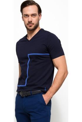 Cacharel 50187420-Vr033 Erkek V Yaka Tshirt