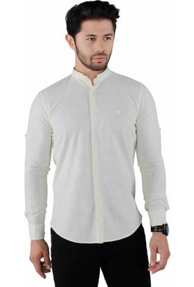 Brango 12595-4 Hakim Yaka Sarı Gömlek