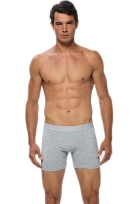 Gümüş İç Giyim Likralı Erkek Boxer