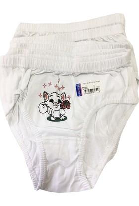 Seher Yıldızı Kız Çocuk Külot Beyaz 6'Lı Paket