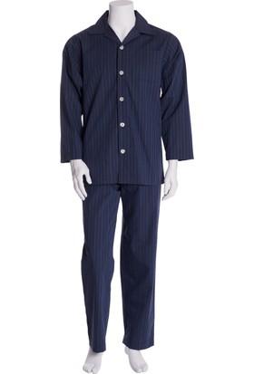 The DON Erkek Çizgili Poplin Pijama Takımı