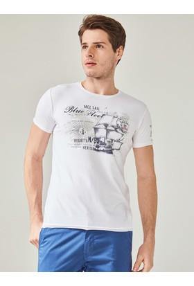 Xint Mcl Erkek Bisiklet Yaka Baskılı Tişört