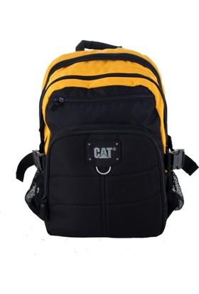 Cat 83435 Erkek Spor Sırt Çantası Siyah Sarı