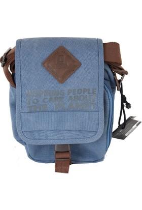 National Geographic N05001 Erkek Postacı Çanta Mavi