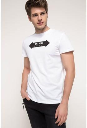 Defacto Erkek Ekstra Slim Fit Baskılı T-Shirt