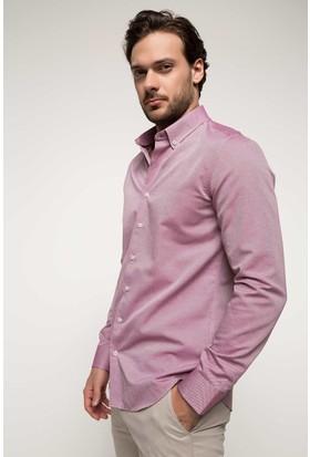 Defacto Erkek Polo Yaka Uzun Kollu Fit Gömlek