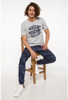 Defacto Erkek Slim Fit Kamuflaj Desenli Jogger Pantolon