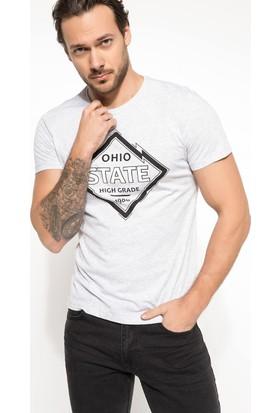 Defacto Erkek Slim Fit Baskılı T-Shirt