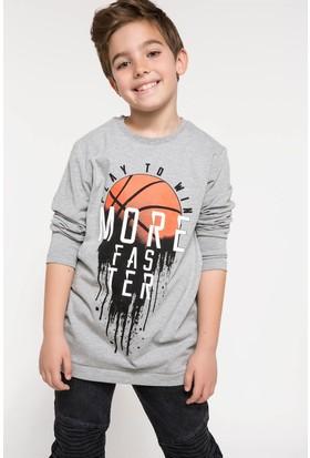 Defacto Erkek Çocuk Baskılı Uzun Kollu T-Shirt