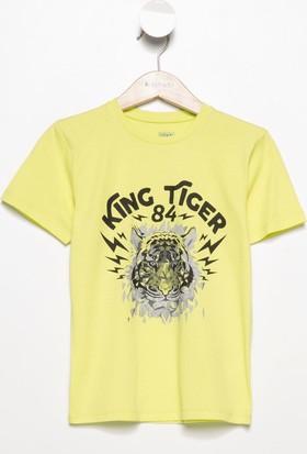 Defacto Erkek Çocuk Kaplan Baskılı T-Shirt