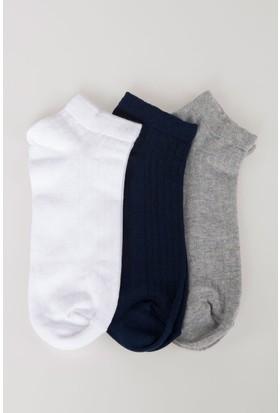 Defacto Erkek 3'Lü Kısa Çorap