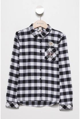 Defacto Kız Çocuk Kareli Gömlek