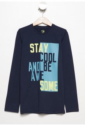 Defacto Erkek Çocuk Yazı Baskılı T-Shirt