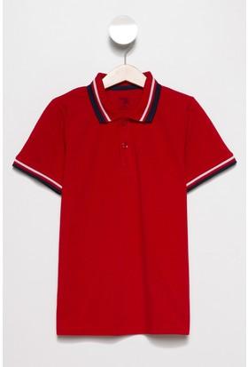 Defacto Erkek Çocuk Yakası Çizgili Polo T-Shirt
