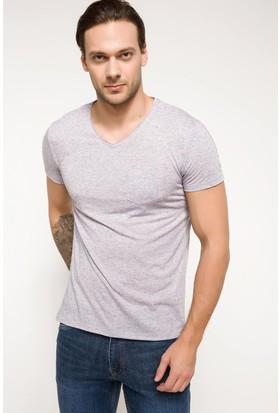 Defacto Erkek Slim Fit V Yaka T-Shirt