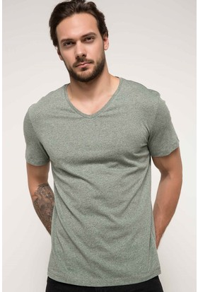 Defacto Erkek V Yaka Basic T-Shirt