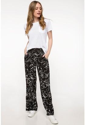 Defacto Kadın Desenli Geniş Kesim Pantolon
