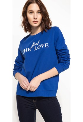 Defacto Kadın Baskılı Sweatshirt