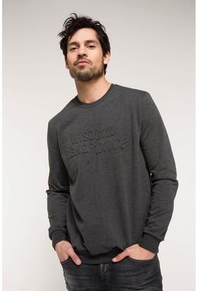 Defacto Erkek Slim Fit Baskılı Sweatshirt