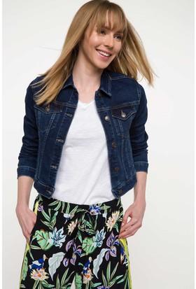 Defacto Kadın Slim Fit Denim Ceket