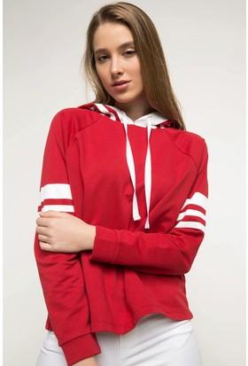 Defacto Kadın Kapşonlu Basic Sweatshirt