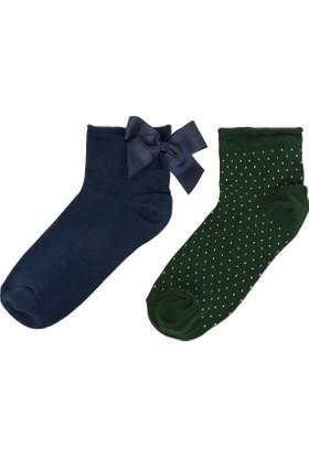 Defacto Kadın Fiyonk Detaylı Çorap