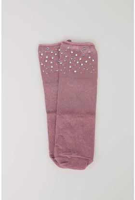 Defacto Kadın Taş Detaylı Çorap