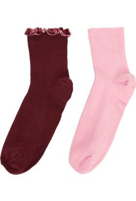 Defacto Kadın Desenli Çorap