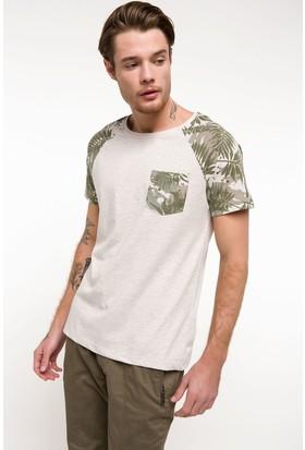 Defacto Erkek Slim Fit Sıfır Yaka T-Shirt