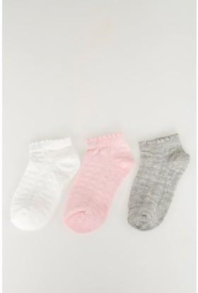 Defacto Kız Çocuk 3'Lü Genç Kız Çorap