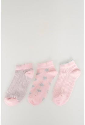 Defacto Kız Çocuk 3'Lü Çorap