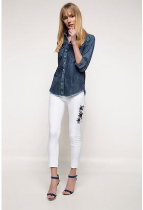 Defacto Kadın Rebecca Skinny Gabardin Pantolon