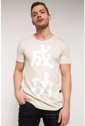 Defacto Erkek Sıfır Yaka Uzun T-Shirt