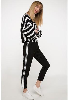 Defacto Kadın Yanları Şerit Detaylı Pantolon