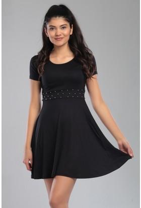 Sosyete Pazarda Kadın Elbise Mini İnci